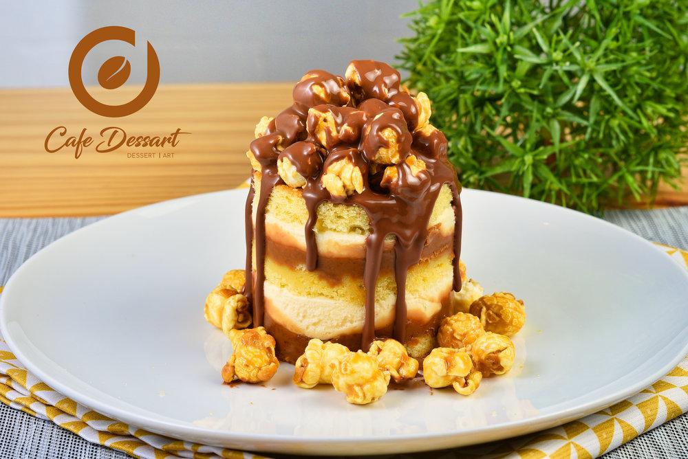 Vanilla Popcorn Cheesecake