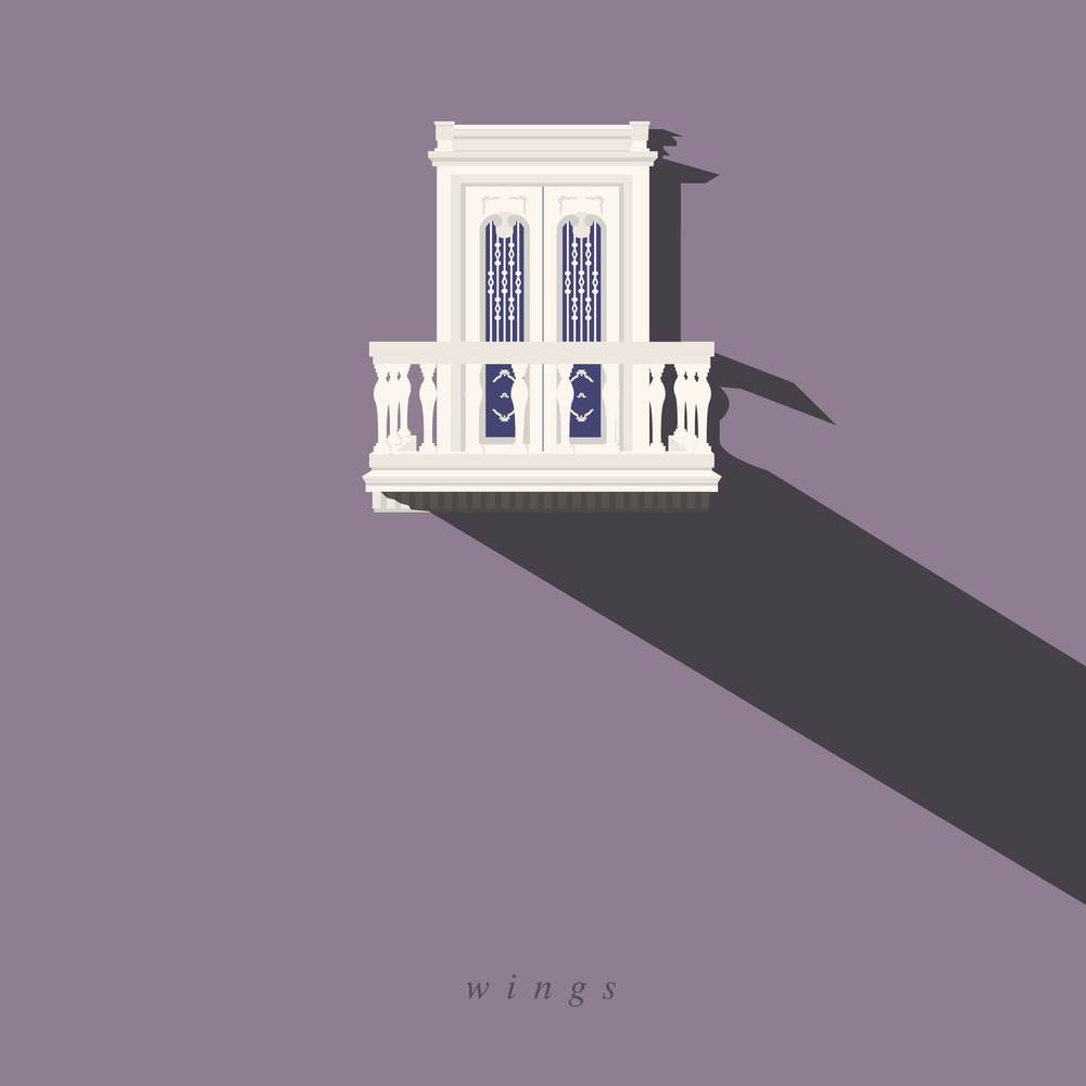 Redesign of BTS's  Wings  album.