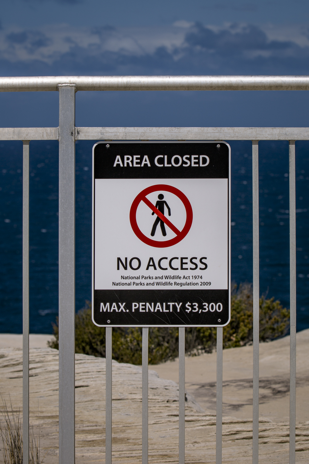 Despite warning signs mounted on the 1.6m fence and warning of $3,300 fines. Police and Parks Rangers are struggling to curb the trend.