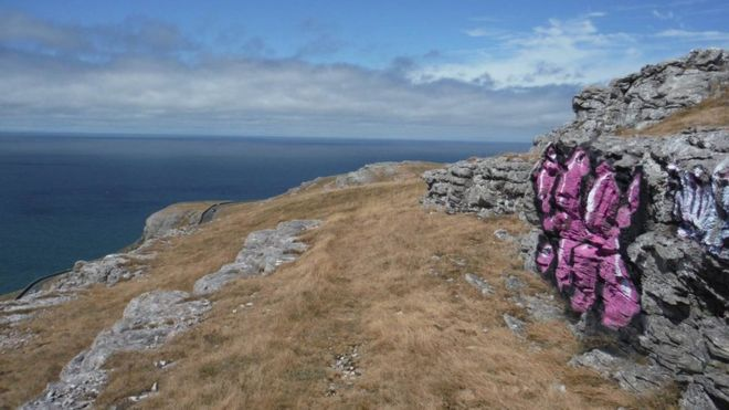 'Disgraceful' vandals target Great Orme with graffiti  BBC - August 03, 2018