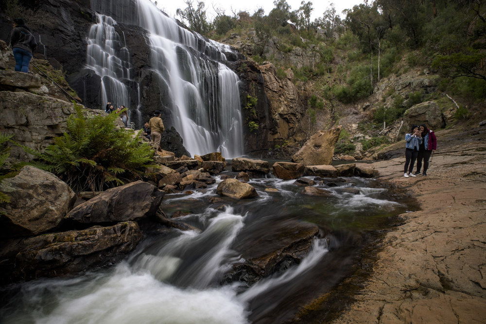 In 2018, a tourist died at MacKenzies Falls after ignoring warning signs and swimming underneath the waterfall. - News.com.au