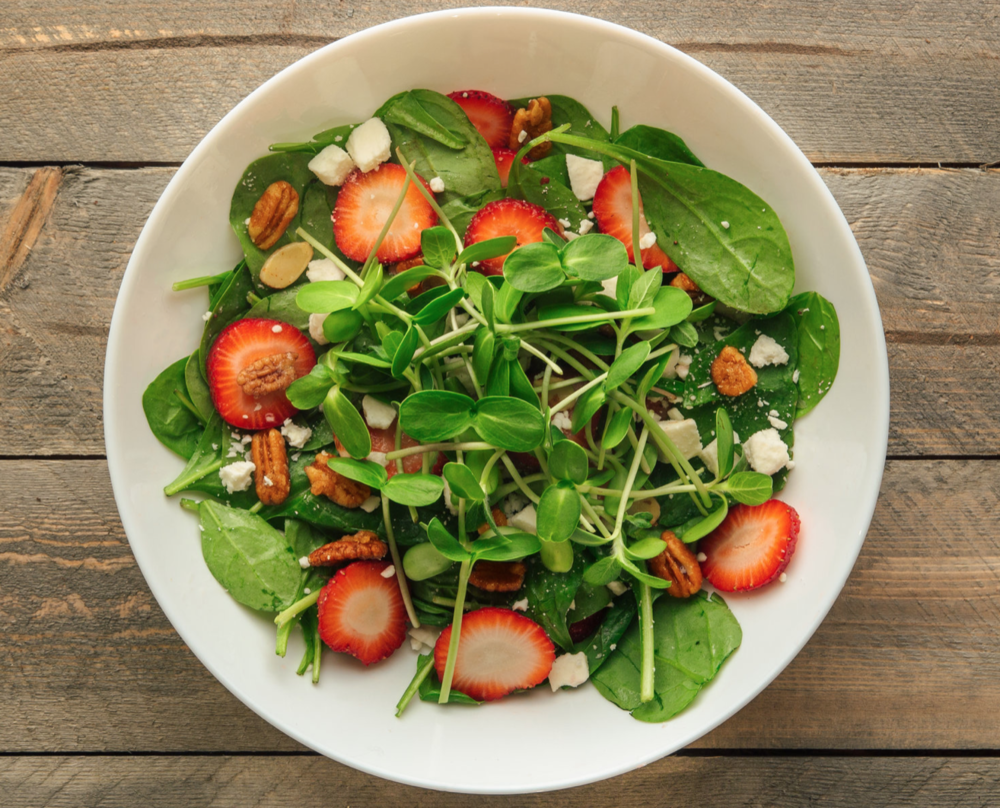 Strawberry & Sunflower Salad -