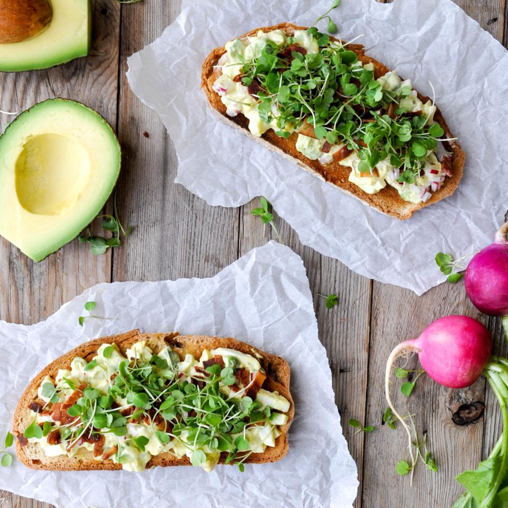 Avocado Egg Toast with Microgreens -