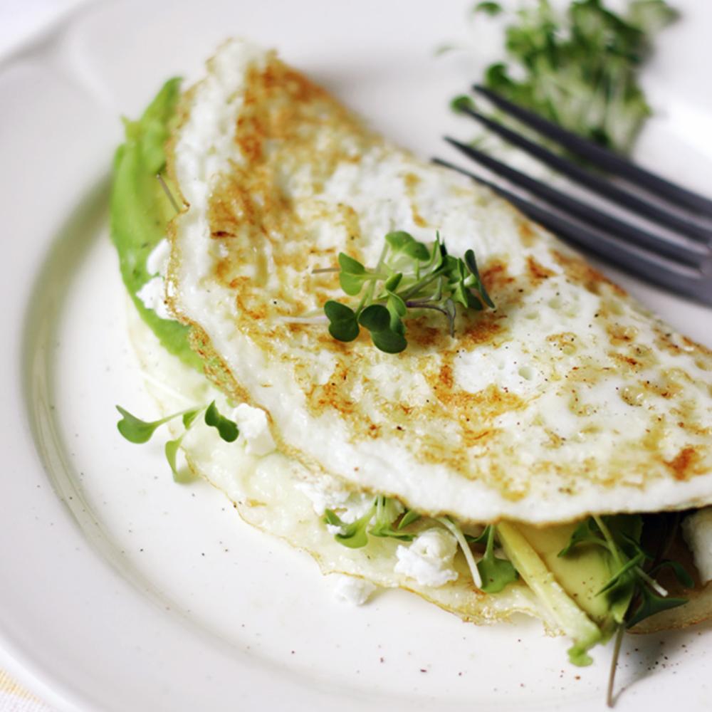 Egg White + Microgreen Omelette -