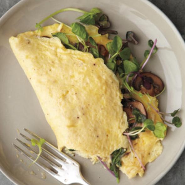 Mushroom & Microgreen Omelette -