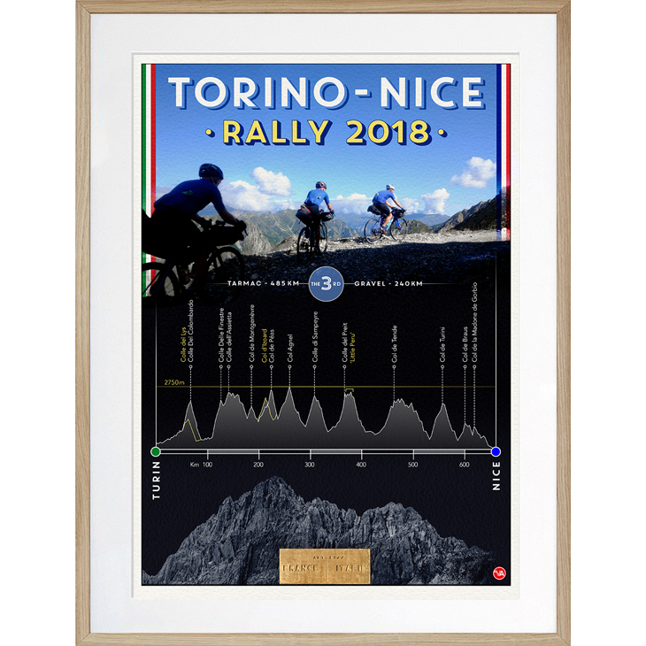 'Torino Nice Rally 2018' limited edition print