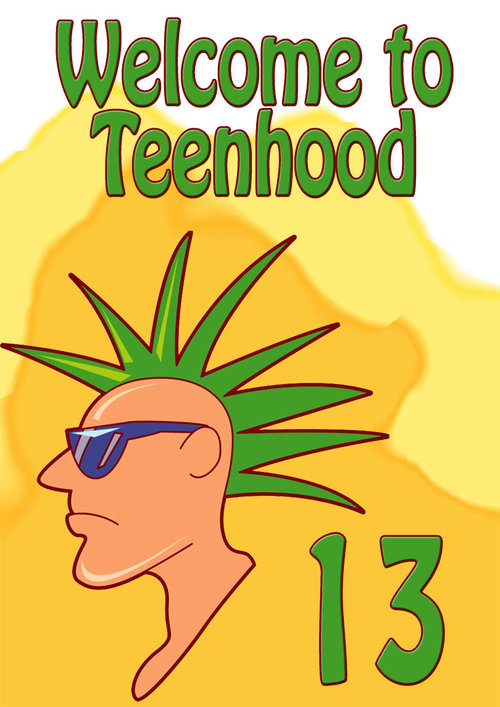 13th Birthday Card Teenager Punk
