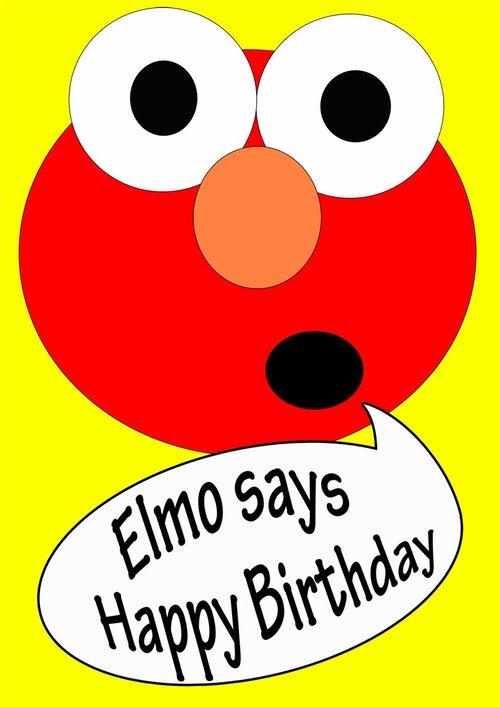 Elmo Birthday Card Free Printable Birthday Cards Printbirthday Cards