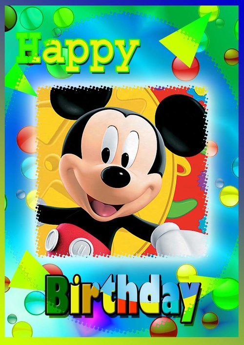 Mickey Mouse Birthday Card Free Printable