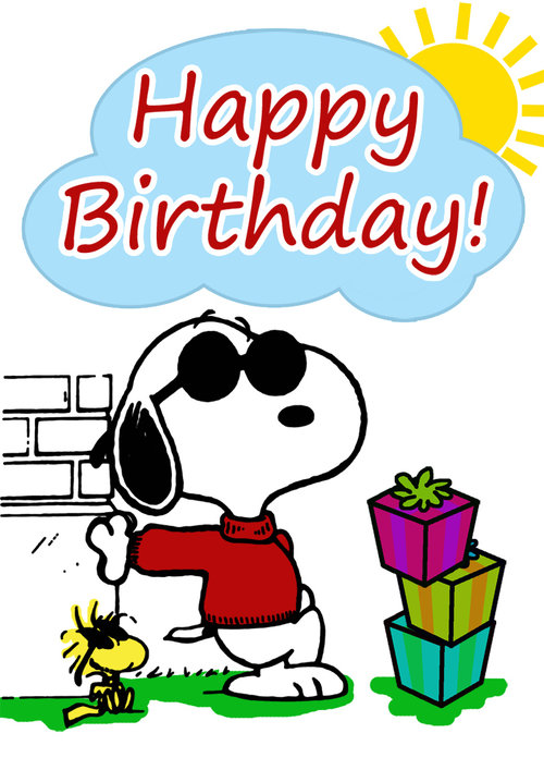 Snoopy Birthday Card