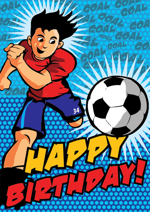 Soccer Birthday Card Free Print