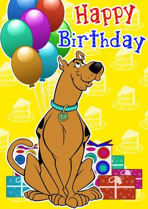 Scooby Doo Birthday Card