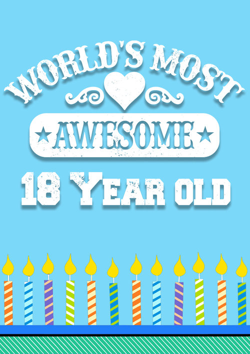 18 Year Old Birthday Card PRINT PDF Free