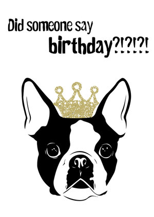 Dog Birthday Card Printable