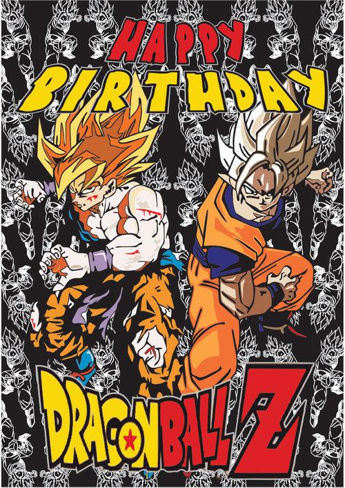 Dragon Ball Z Birthday Card
