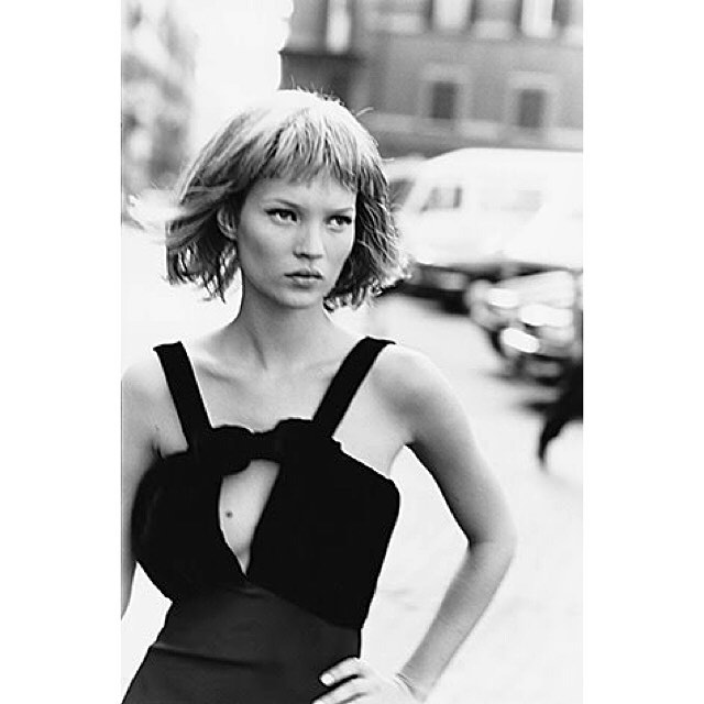 Kate Moss by Peter Lindbergh, Harper's Bazaar . . . . . . . . . . . . . . . . . . . . .  #hairstyle #hair #style #hairdo #photography #photooftheday #haircut #hairbrained #bob #classic #inspiration #newyork #amazing #haircut