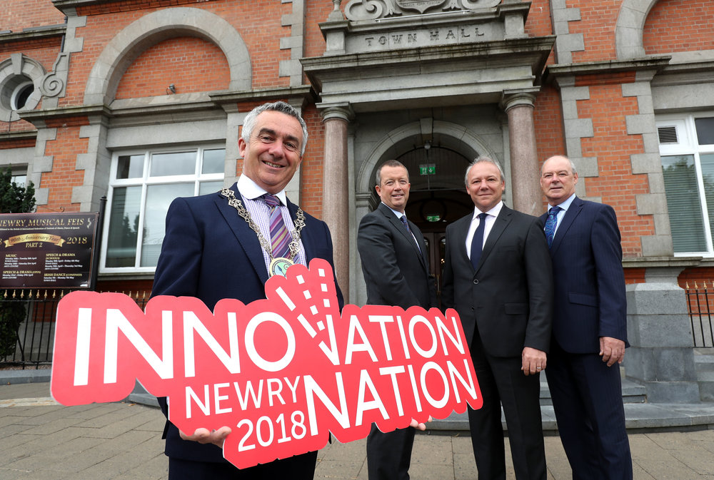 Pictured : Cllr Mark Murnin, Chair, Newry, Mourne and Down District Council; Liam Nagle, CEO, Norbrook Laboratories; Adrian Toner, COO, First Derivatives plc; and Liam Hannaway, Chief Executive, Newry, Mourne and Down District Council