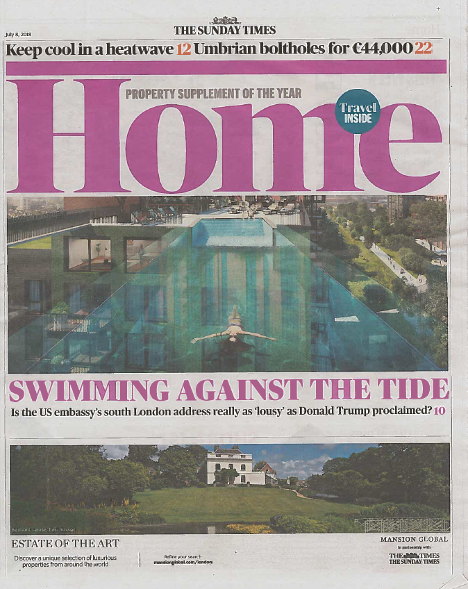 The Sunday Times - July 2018   Double page spread entitled 'Barn to be Wild', featuring Emma's Norfolk home