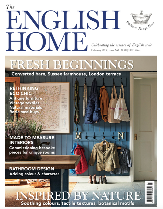 The English Home - Feb 2019   Featuring some of our new KDLoves cushions, which can be bought  here .