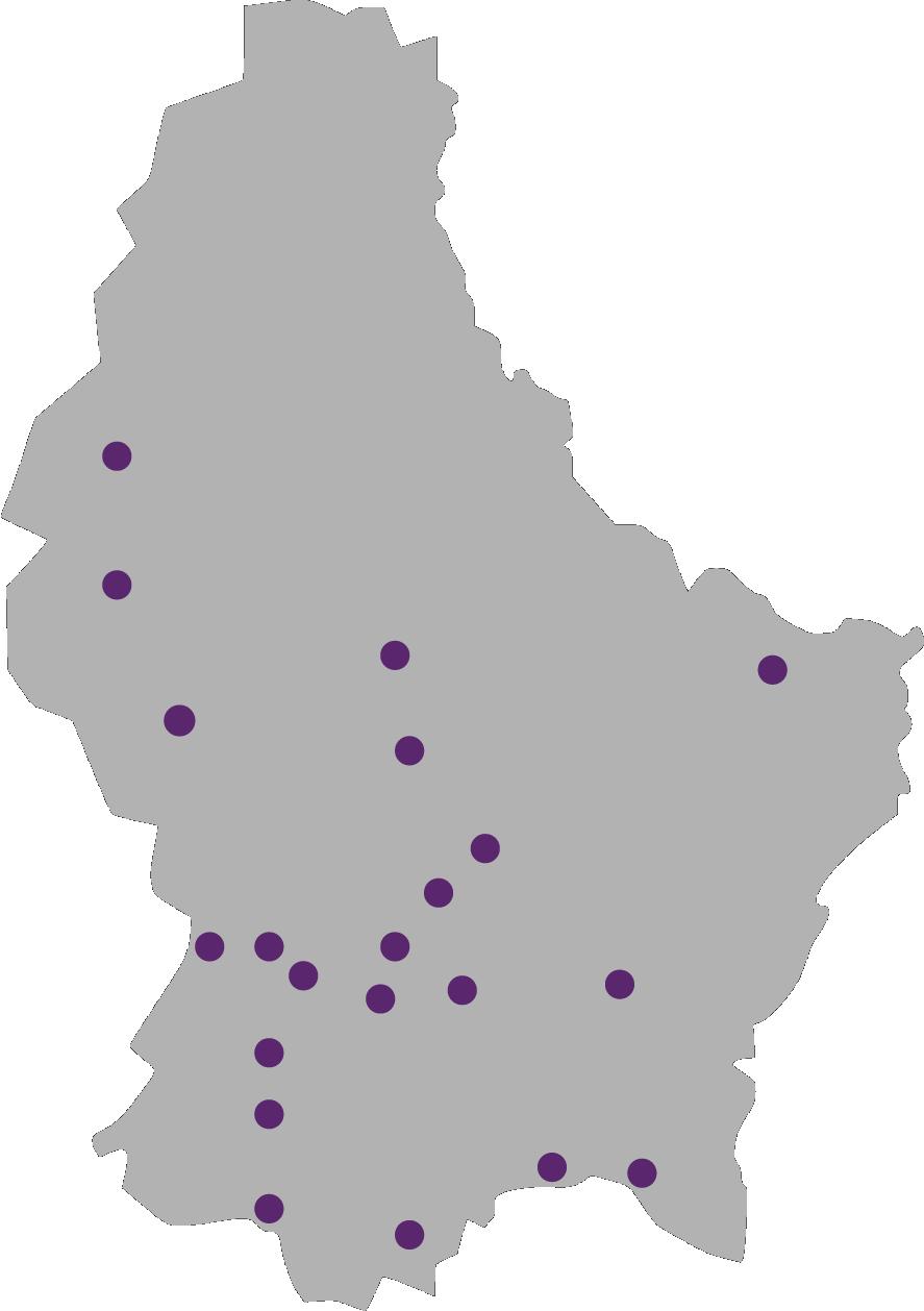 Des groupes partout au Luxembourg - Tu veux devenir membre? Tu cherches un groupe? La FNEL : 28 groupes locaux qui t'attendent.