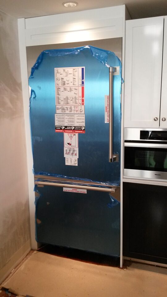 Cambridge kitchen renovation refrigerator