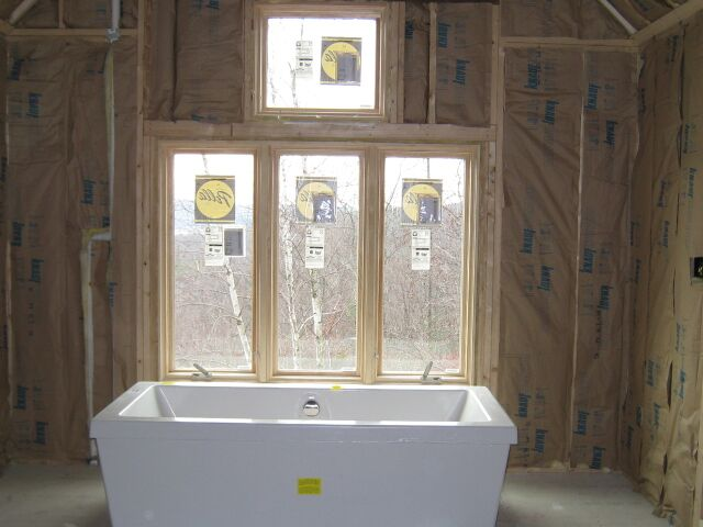 A recent Divine Design Build bathroom renovation in the construction phase.