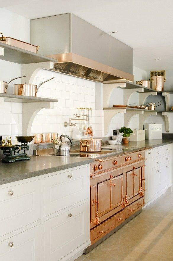 copper kitchen range