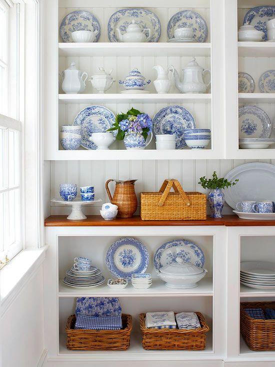 Blue and white pottery - bhg.com