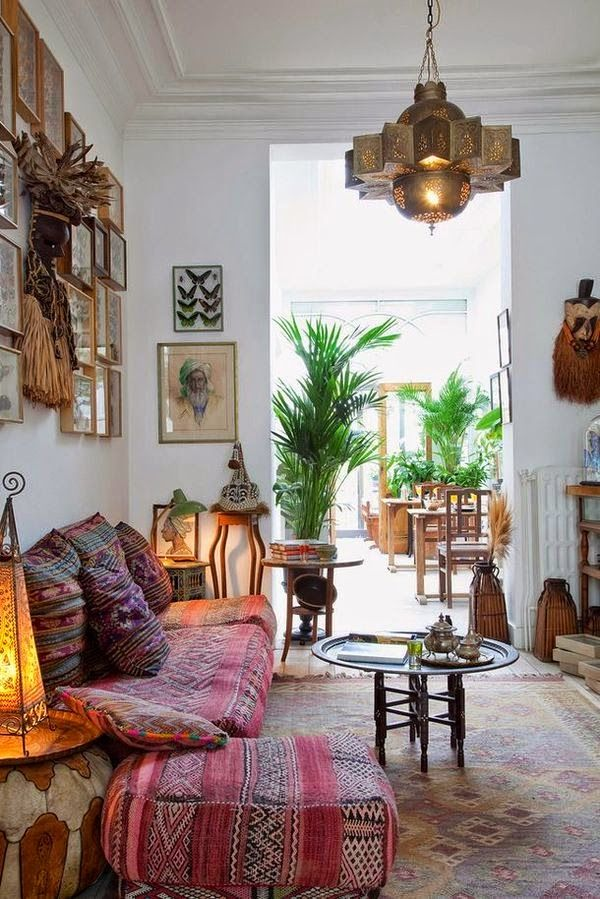 Moroccan Decorating Trend - Image via From Moon to Moon