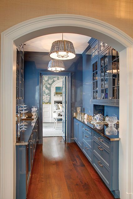 blue and white butlers pantry - country living