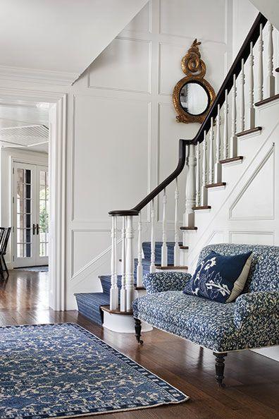 blue and white home decor-new england home mag