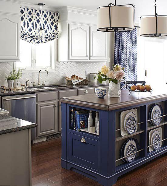blue and white kitchen 3