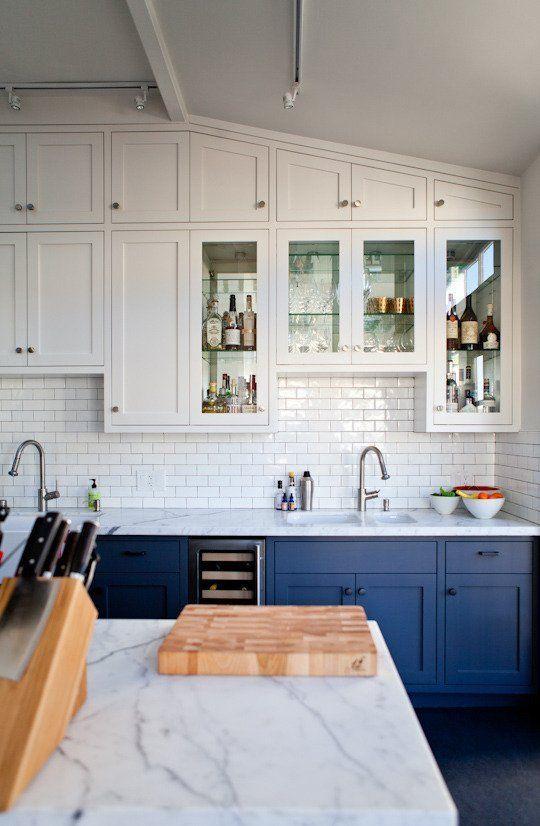 blue and white kitchen - the kitchn