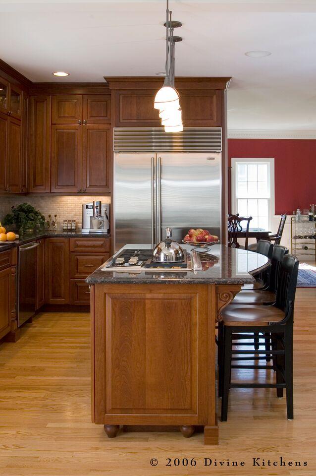 kitchen island ideas - cooktop