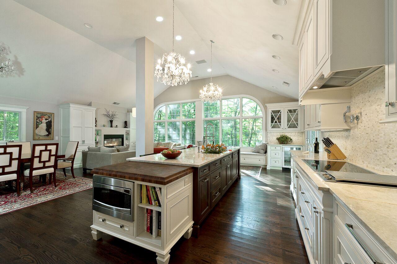 kitchen island ideas - two tone new