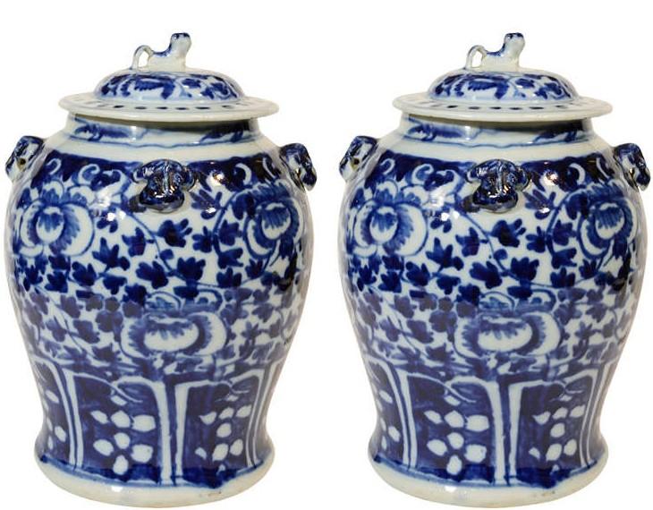 Porcelain jars from 1stDibs.com