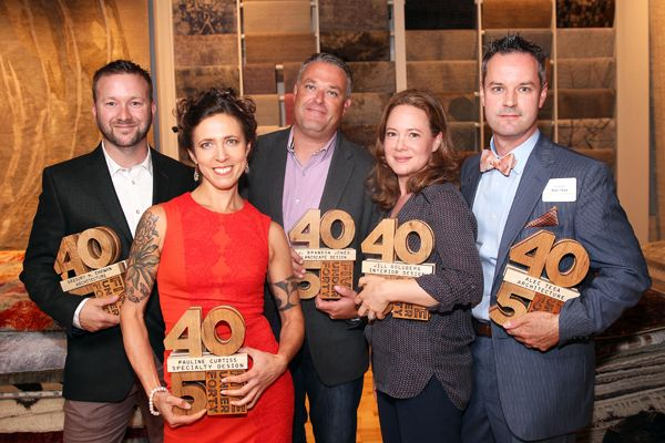 Past winner's of New England Home's 5 Under 40 Designation. Image via New England Home