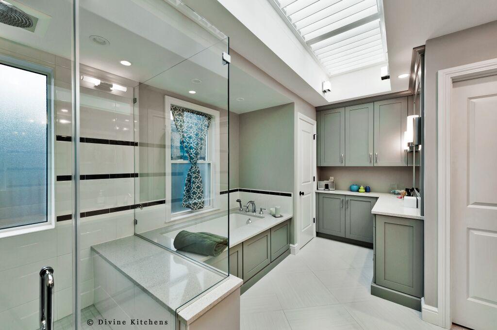 Boston brownstone renovation - bathroom