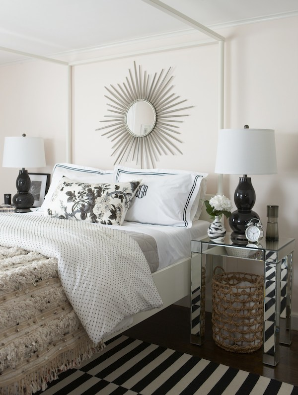 A bedroom in Erin Gates' Newton home.