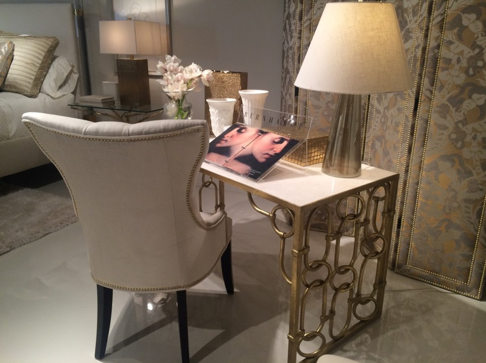 A chain link desk from Bernhardt Furniture. Image via Houzz