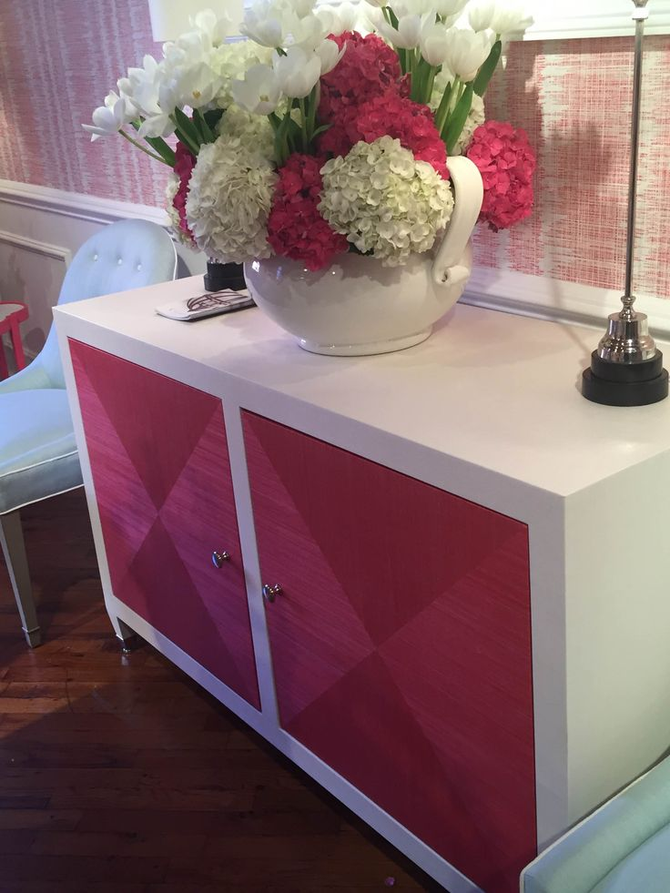 Thibault pink cabinet- hadley court