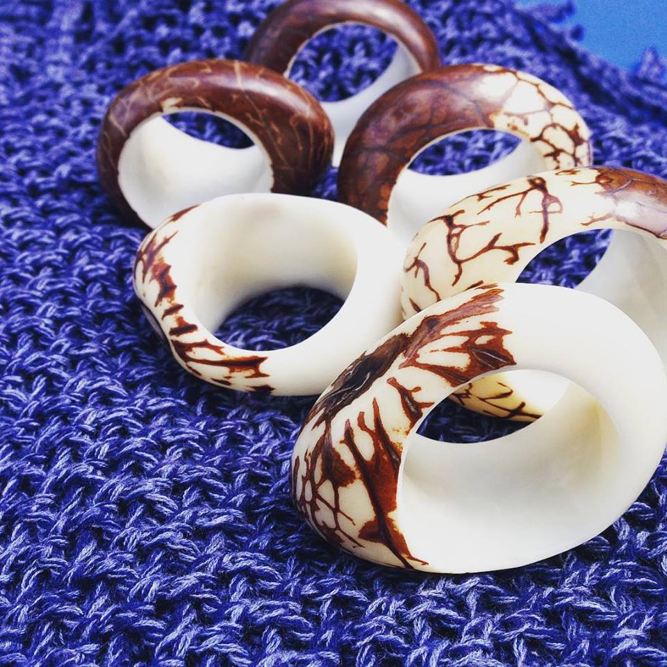 Fair trade napkin rings from Pro Pueblo.