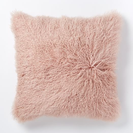Pantone color of the year - rose quart pillow via west elm