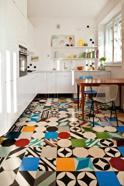 Colorful kitchen tile floor wysokieobcasy.pl Visit