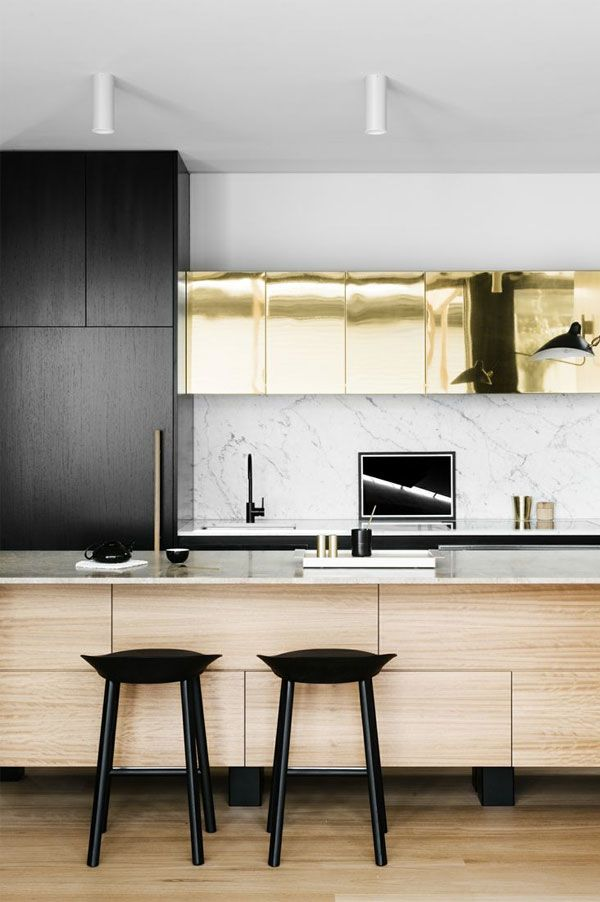 MEtallic kitchen cabinets