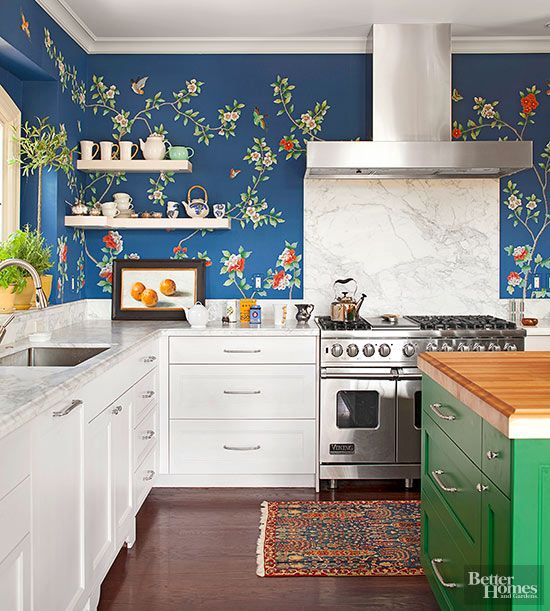 Wallpaper in the kitchen- BHG