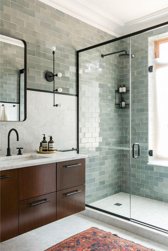 3- gray bathroom tile - pinterest