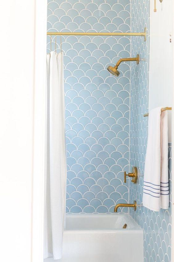 7-Scalloped bathroom tile - Emily Henderson