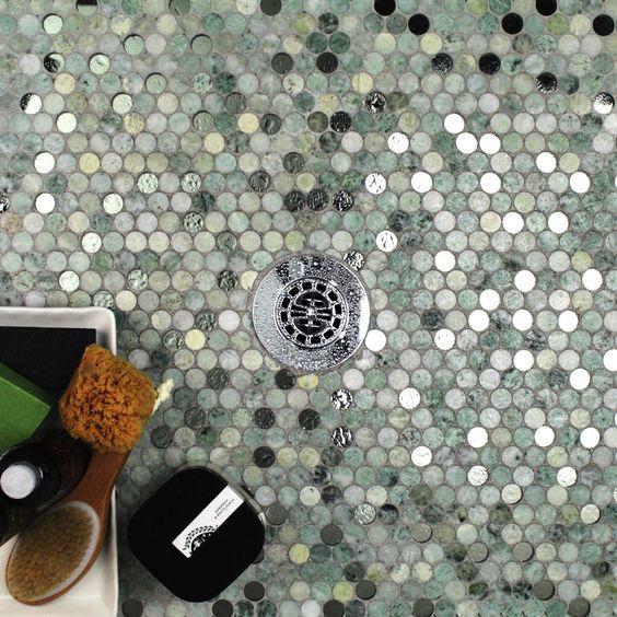 9 - Metallic round tiles - tilebar