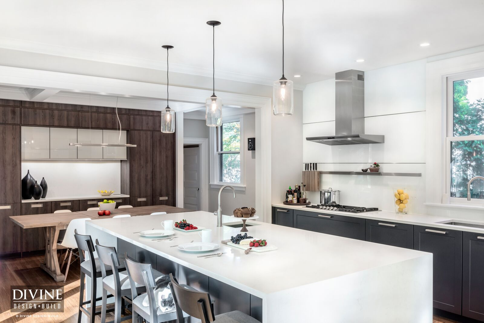 A Modern, High-Tech Kitchen in Newton, Mass. — Divine Design+Build